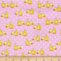 Comfy Flannel Ducks Pink