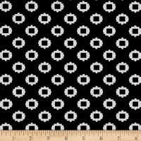 Textured Double Knit Geometric Black/White