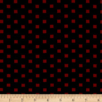 ITY Stretch Knit Abstract Squares Black/Red