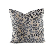 "18"" x 18"" Charleston Coral Throw Pillow Velvet Blue"