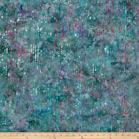 Bali Handpaints Batiks Water Droplets Aqua