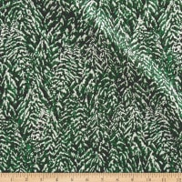 Nocturne Metallic Snowy Trees Pine/Silver