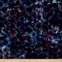 Bali Handpaints Batiks Sunflower Black/Grape