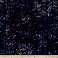 Bali Handpaints Batiks Butterflies Black/Grape