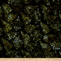 Bali Handpaints Batiks Mixed Leaves Verde