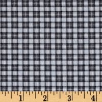 Timeless Treasures Oxford Flannel Mini Plaid Grey