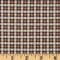 Timeless Treasures Oxford Flannel Mini Plaid Tan