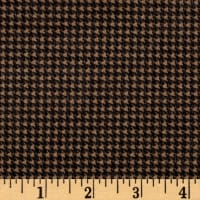 Timeless Treasures Oxford Flannel Mini Houndstooth Camel