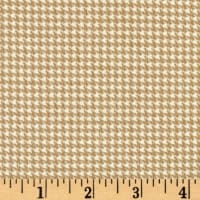 Timeless Treasures Oxford Flannel Mini Houndstooth Wheat