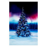 "All Aglow Digital Christmas Tree 30"" Panel Borealis"