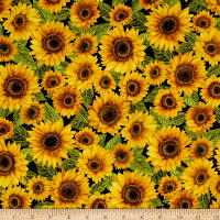 Falling For You Metallic Sunflowers Black/Gold
