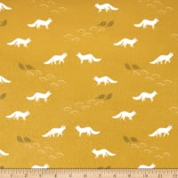 Dear Stella Flannel Winter Cabin Artic Fox Mimosa