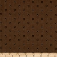 Intermix  Dobby Shirting X Pattern Brown
