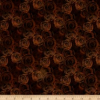 "108"" Flannel Textured Circles Brown"