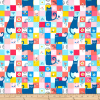Curious Cats Patchwork Multi