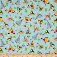 Pow Wow Tossed Teepee Turquoise