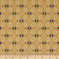 Pow Wow Small Aztec Print Tan