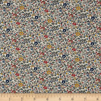 Liberty Fabrics Classic Tana Lawn Katie and Millie Multi/Blue