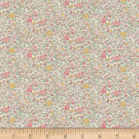Liberty Fabrics Classic Tana Lawn Katie and Millie Multi/Pink