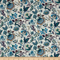 Liberty Fabrics Contemporary Classic Tana Lawn Mabelle Turquoise/Purple