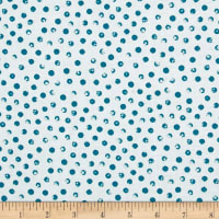 Bread & Butter Clever Dots White/Teal