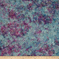Bali Handpaints Batiks Winter's Magic Swirls Huckleberry