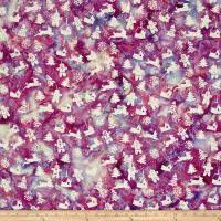 Bali Handpaints Batiks Winter's Magic Gingerbread Fuchsia