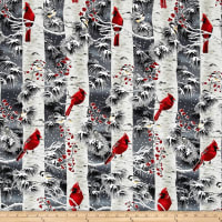 A Cardinal Christmas Metallic Cardinals In Trees Charcoal/Silver