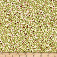 Winter Blossom Metallic Mini Holly Natural/Gold