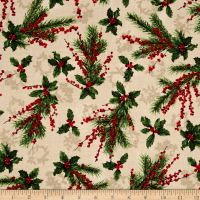 Merry, Berry & Bright Metallic Holly Jolly Radiant Vanilla