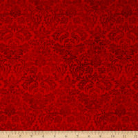 Shiny Objects Metallic Holiday Twinkle Dazzling Damask Radiant Ruby