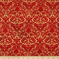 Shiny Objects Metallic Holiday Twinkle Dazzling Damask Scarlet