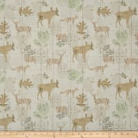 Timeless Treasures Wilderness Woodland Animals Silhouettes Cream