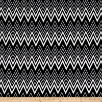 Liverpool Double Knit Chevron Black/White