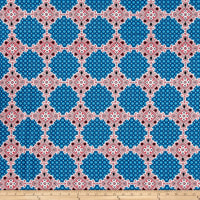 Peachskin Prints Abstract Fuschia/Blue