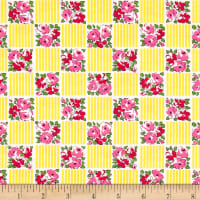 Riley Blake Dainty Darling Squares Yellow
