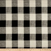 Premier Prints Anderson Check Home Decor Fabric Black/Linen
