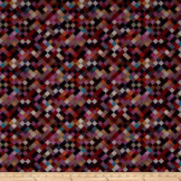 "Hopscotch Digital 108"" Quilt Backing Plum"