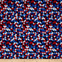 "Hopscotch Digital 108"" Quilt Backing Patriotic"