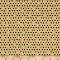 Magical Moments Gold Metallic Mini Hearts Beige