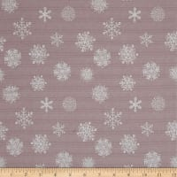 Magical Moments Silver Metallic Snowflakes Peach