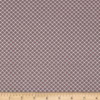 Magical Moments Silver Metallic Dotted Grid Peach