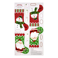 "Sarah Frederking A Christmas Wish 23.5"" Stocking Panel Red"
