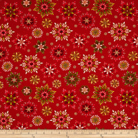 Art Loft Holiday Flair Metallic Snowflakes Red