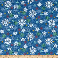 Sharla Fults Winter Joy Snowflake Blue