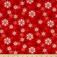 Sharla Fults Winter Joy Snowflake Red