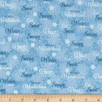 Sharla Fults Winter Joy Winter Words Light Blue