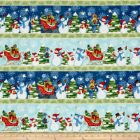 Sharla Fults Winter Joy Large Stripe Blue/Aqua