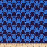 Yolanda Fundora Kitty Kitty Tonal Cat Blue