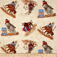 Western Denim & Dirt Rodeo Up! Rodeo Toss Ivory